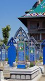 Merry cemetry in Sapanta, Romania Royalty Free Stock Photography