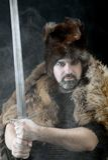 Cimmerian.barbarian Krieger Stockfoto