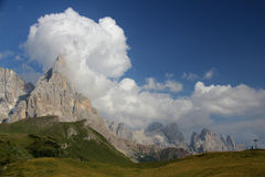 Cimon de la Pala and Pale di San Martino Royalty Free Stock Photography