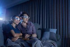 Cinéma à la maison Photographie stock libre de droits