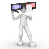 Cinéma 3D Photographie stock