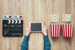 Cinéma coulant en ligne Photographie stock libre de droits