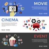 Cinéma de bleu de noir de vecteur de Digital Photo libre de droits