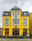 Cinéma de théâtre du monde dans Tromso, Norvège Photographie stock libre de droits