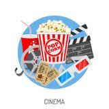 Cinéma et heure de projection du film Photos stock
