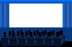 Cinéma - pièce bleue Photos stock