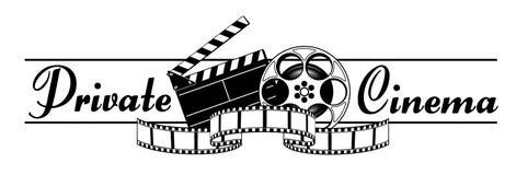 Cinéma privé Photos libres de droits