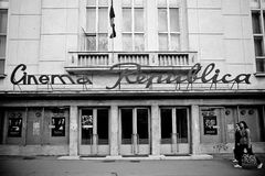 Cinéma Republica dans Iasi images libres de droits