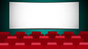 Cinéma vide Hall Screen With Copy Space Photographie stock