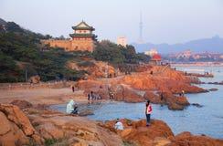 ¼ Cina del cityï di Qingdao Fotografie Stock Libere da Diritti