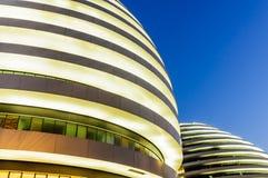¼ Œin Cina del viewï di notte di architettura di Pechino bello di SOHO moderno della galassia Immagini Stock