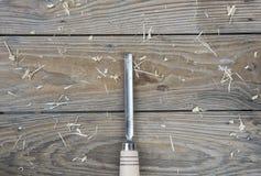 Ścinaki na naturalnym drewnianym tle Fotografia Royalty Free