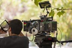 Cinamatographer με τη κάμερα κινηματογράφων Arri Alexa Στοκ φωτογραφία με δικαίωμα ελεύθερης χρήσης