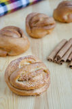 Cinamomo dulce Rolls Imagen de archivo libre de regalías