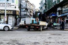 Cinarcik夏天镇街道-土耳其 库存图片
