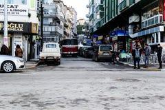 Cinarcik夏天镇街道-土耳其 库存照片