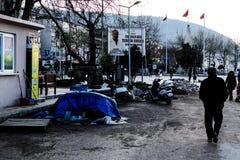 Cinarcik夏天镇街道-土耳其 免版税库存照片