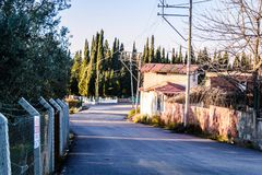 Cinarcik镇乡下-土耳其 免版税库存照片