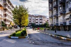 Cinarcik镇在秋天-土耳其 免版税图库摄影