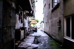 Cinarcik镇-土耳其平凡的人和街道  免版税库存照片