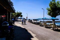 Cinarcik镇-土耳其平凡的人和街道  图库摄影
