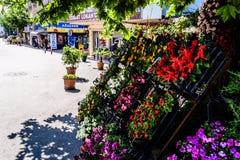 Cinarcik镇-土耳其平凡的人和街道  库存图片