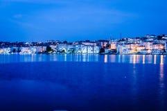 Cinarcik Grodzka linia horyzontu Po zmierzchu - Turcja Fotografia Royalty Free