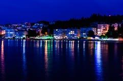 Cinarcik Grodzka linia horyzontu Po zmierzchu - Turcja Fotografia Stock