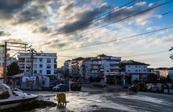 Cinarcik lata Grodzkie ulicy - Turcja Zdjęcie Stock