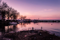 Cinarcik Marina. Relatively neglected marina of Cinarcik town that hosts small boats, fishing vessels and several different type of boats for personal and travel Royalty Free Stock Photography