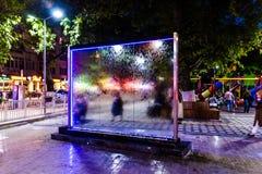 Cinarcik-Stadtallgemeiner Park in der Nacht - die Türkei Lizenzfreie Stockbilder