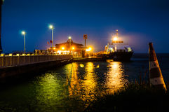 Cinarcik Town Ferry Port In The Evening Stock Image