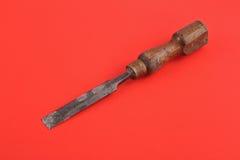 Cincel de madera viejo Imagen de archivo libre de regalías