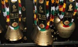 Cincerros suíços vendidos como lembranças Fotografia de Stock Royalty Free