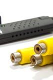 Cinch или кабели RCA в близком взгляде Стоковое Изображение RF