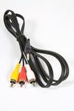 Cinch kabel z trzy i 3 5 mm dźwigarka Obrazy Stock
