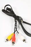 Cinch kabel z trzy i 3 5 mm dźwigarka Fotografia Royalty Free