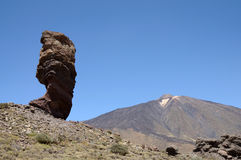 Cinchado rock and Teide volcano, Tenerife Royalty Free Stock Images