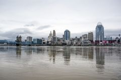 Cincinnati-Überschwemmung 2018 Lizenzfreies Stockfoto
