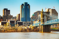 Cincinnati śródmieścia przegląd fotografia royalty free