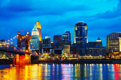 Cincinnati śródmieścia przegląd Zdjęcia Stock