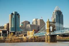 Cincinnati śródmieścia przegląd obrazy stock