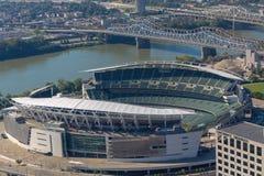 Cincinnati Bengals naar huis gebaseerd Paul Brown Stadium stock foto