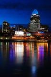 Cincinnati bij Nacht royalty-vrije stock fotografie