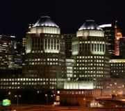 Cincinnati Buildings. Night view of buildings in downtown Cincinnati, Ohio. (5451 royalty free stock photos