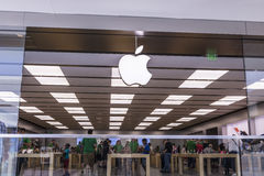 Cincinnati - Circa May 2017: Apple Store Retail Mall Location. Apple sells and services iPhones and iPads I Royalty Free Stock Photography
