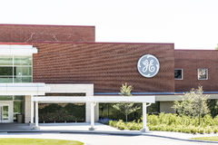 Cincinnati - Circa May 2017: General Electric Aviation Facility. GE Aviation is a Provider of GE90 and LEAP Jet Engines XIII Royalty Free Stock Photos