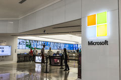 Cincinnati - Circa May 2017: Microsoft Retail Technology Store. Microsoft develops and manufactures Windows and Surface software V Stock Images