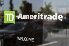 Cincinnati - Circa May 2017: TD Ameritrade local branch office. TD Ameritrade in an online broker of stocks and investments I. TD Ameritrade local branch office stock photo