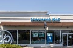 Cincinnati - Circa Mei 2017: De Klok Kleinhandels van Cincinnati plaats Van de consument De Klok van Cincinnati biedt landline, e stock foto's